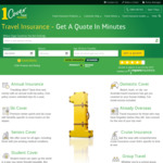 5% off Insurance @ 1cover Travel Insurance