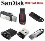 SanDisk Ultra USB 3.0 128GB $23.98, SanDisk Ultra Dual 64GB $11.98, SanDisk Ultra Fit 256GB $49.95 + Del ($0 w/eBay+) @Apus eBay