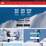 $25 off $150, $50 off $250, $150 off $500 - Free Shipping with $100 Spend @ Helly Hansen