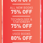 Co-Op Bookshop Closing Down: 75% off New Books, Stationery, Tech, 80% off Used Books (in Store)