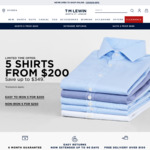 5 Shirts for $200 @ TM Lewin