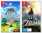[Switch] The Legend of Zelda: Link's Awakening + Legend of Zelda Breath of The Wild $124.91 Delivered @ The Gamesmen eBay