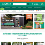 Free Tall Upgrade + Free Delivery to 170 Depots with Any Shed @ Easyshed
