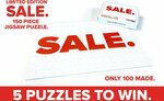 Win 1 of 5 SALE. Jigsaw Puzzles from EB Games
