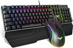 Havit 104key RGB Mechanical Keyboard and Mouse Combo Delivered for $56.99 Delivered (after Coupon) @ Havit Direct Amazon AU