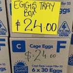 [SA] Sunny Queen Farm Cage Eggs 6x30 $24 @ Jai Shiv Fruit & Veg Shop (South Plympton)