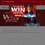 Win a Holiday Per Year for Five Years (5x $6000 Flight Centre Vouchers) from Flight Centre