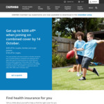GMHBA Health Insurance $200 off (Couples, Families), $100 off (Singles) for New Members on Combined Covers