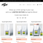[SOLD OUT] Springtime Coffee Blend, 1kg for $28, 2kg for $54, 3kg for $75, Free Shipping on All Orders @ Coffee on Cue