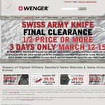WENGER Swiss Army Knife Clearance 1/2 Price or More