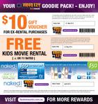 Free $10 Ex-Rental Video Voucher and Free Kids Video Rental