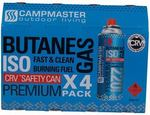 CampMaster Butane 220g 4 Pack for $3.94 at SuperCheapAuto