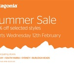 Patagonia End of Summer Sale, 30% off Selected (in Store Only)