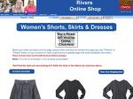 Rivers Online - Ladies Dresses $6.9-20 (Save up to 71-82%) Shorts $19.95-29.95 (up to 40% off)