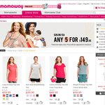 Maternity & Nursing Wear Season Clear-out: Any 5 for $149.95, that's $29.99 Each
