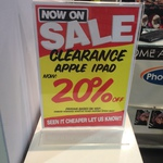 Harvey Norman Martin Place - 20% off iPads
