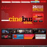 $9.10 Movie Ticket Mon-Fri @ Event, BCC & Greater Union When Joining Cinebuzz