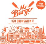FREE Mr. Burger from 11:30am - 3:00pm 320 Brunswick St, Fitzroy [MELB]