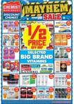 Chemist Warehouse 1/2 Price Mayhem Sale