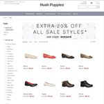 Hush Puppies Online Further 20% off Sale Items