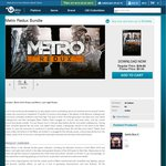 (Daily Deal) Metro Redux Bundle A $9.99 (Redeem on Steam, Ubi Account Required) @UbiStore