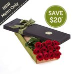 12 Red Roses in a Presentation Box $59.95 Delivered (Was $79.95) [NSW Only] @ Fresh Flowers
