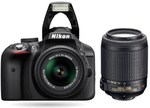 Nikon D3300 DSLR w/ 18-55mm VR II + 55-200mm VR Lens (Refurb) USD $413.34 with Shipping @ Buydig