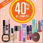 40% off Cosmetics at Big W 26th Nov - 2nd Dec