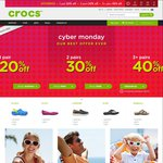1 Pair 20% off, 2 Pairs 30% off, 3+ Pairs 40% off (Including Clearance) + 8% Cashback @ Crocs