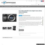 Sony Alpha a6300 Mirrorless Digital Camera Body at $1407.04 Shipped @ T-Dimension