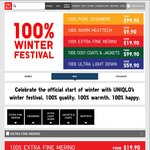 Winter Festival: Merino from $19.90, Heattech from $9.90, Down from $59.90 @ UNIQLO