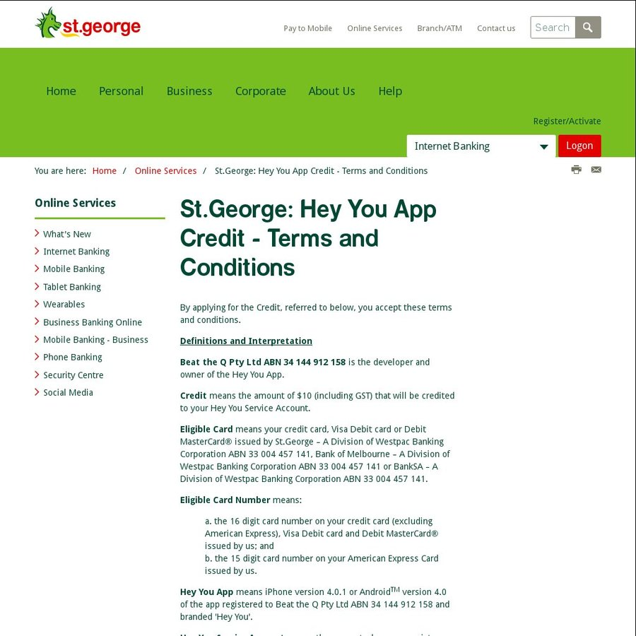 Hey you app free 10 credit by adding an eligible st george issued hey you app free 10 credit by adding an eligible st george issued card ozbargain reheart Images