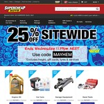 Supercheap Auto - 25% Off Sitewide. Free Click N Collect Available.