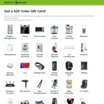 Claim a $20 Coles eGift Card on Completing 4 Reviews in Selected Categories @ Product Review