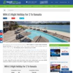 Win a Holiday in Vanuatu for 2 Worth $3,600 from Travel Online