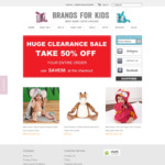 Brands for Kids Pre-Christmas Sale 50% OFF Store Wide