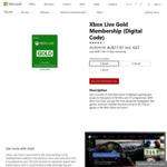 Xbox Live Gold 3 Months (Digital Key) - $17.97 (Save 40%) @ Microsoft Via Groupon