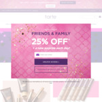 25% off almost everything + Free Shipping $80+ @ Tarte Cosmetics