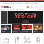 Kitchen Warehouse Boxing Day Sale - 20% off Storewide