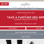 Airflex Closing down Sale Take Extra 25% off Already Reduced Items