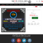 Premium Limited Release Shiraz 2012 at $204/Dozen - 75% OFF RRP (RRP: $816/Dozen) Delivered @ Skye Cellars