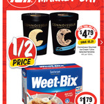 [NSW] Connoisseur Ice Cream 1L $4.79 @ Supa IGA (Fri 22 June ONLY)
