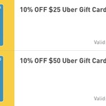 10% off $25/$50 Uber Gift Cards @ 7-Eleven (Fuel App Required)