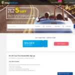 Rent A Car From $15 & Get Extra 5% Off For Your First Car Rental @ EasyRentCars