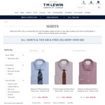All Shirts & Ties $40 (Was $79.95- $109.95) + Free Delivery over $50 @ TM Lewin