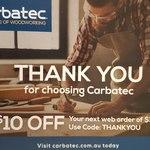 Carbatec $10 off Next Order ($100 Min Spend)