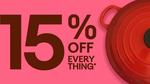 15% off Sitewide ($25 USD Minimum Spend / $100 USD Max Discount) @ eBay USA