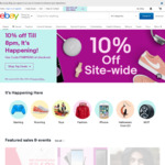 10% off Sitewide Including eBay Gifts Cards (Min Spend £20 (A $36.66) Max Discount £50 (A $91.66)) @ eBay UK