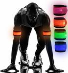 Modohe 4 PACK LED Slap Armband Lights Glow Band for Running - $12.99 + Delivery (Free with Prime/ $49 Spend) @ Newdora Amazon
