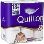 Quilton 3 Ply Toilet Tissue 18 Pack $7.20 | 36 Pack $12.60 C&C @ Big W